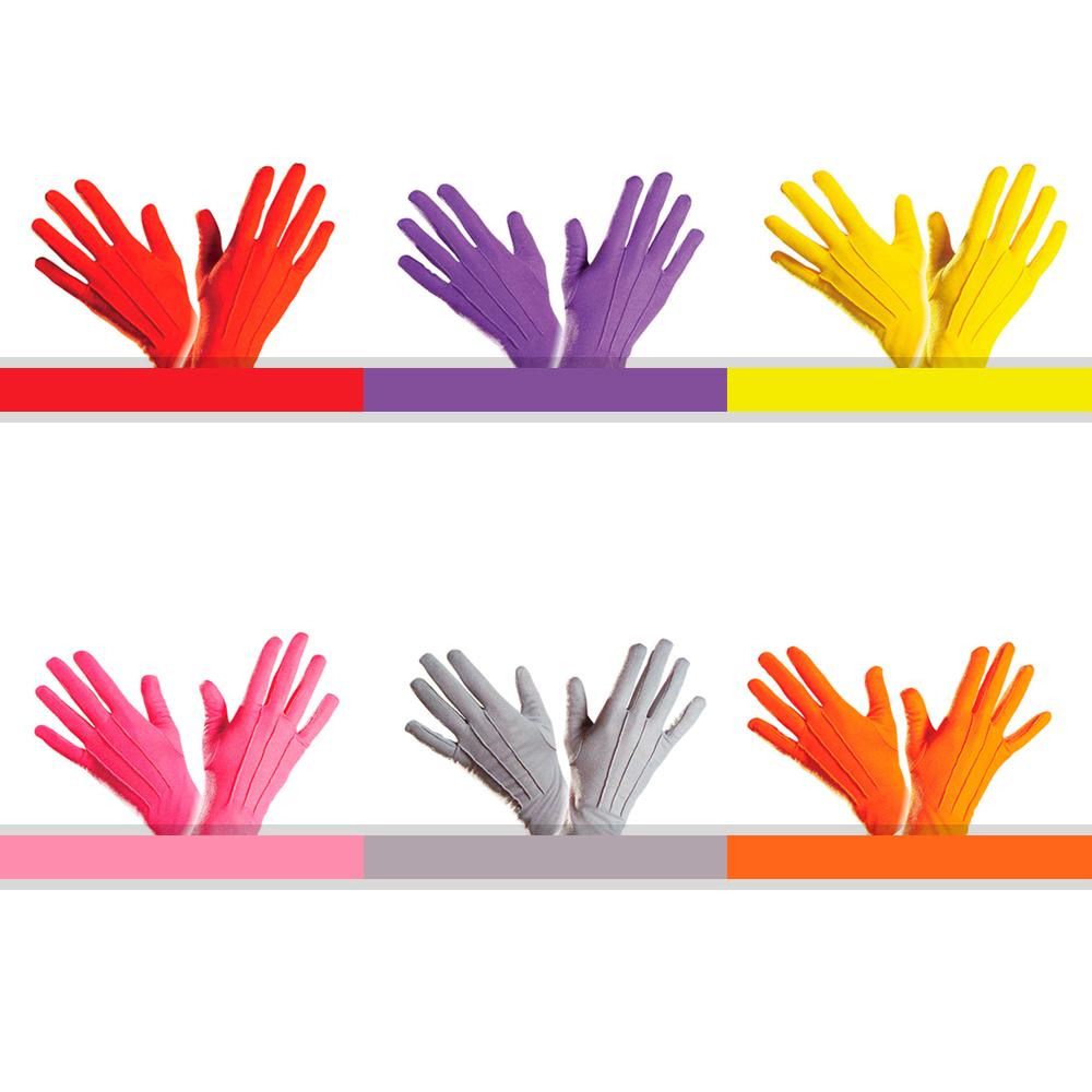 622b32676da8d7 NEU Handschuhe, one size Farbauswahl Kostümhandschuhe bunt Clown farbig  Karneval
